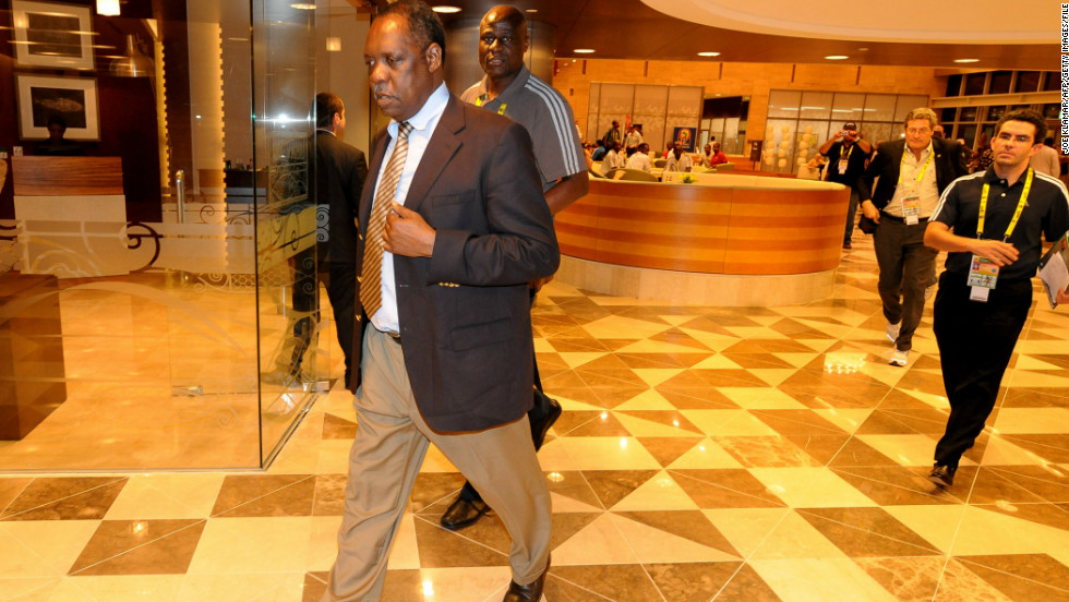 The Fédération Congolaise de Football-Association -- FECOFA -- regulates football in the Democratic Republic of Congo. FECOFA's president is Constant Omari and is pictured here walking behind president of the Confederation of African Football Issa Hayatou (R) in January 2010.