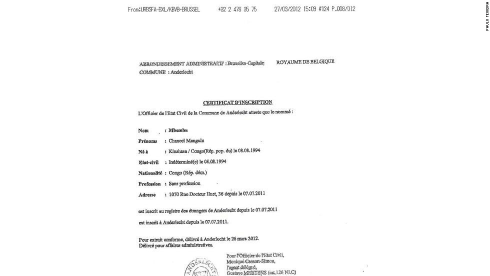When Mbemba obtained a Belgian citizenship document in July 2011, a month after he arrived in Europe, his date of birth is now dated August 8, 1994.
