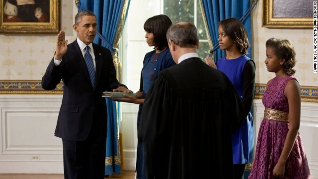 President Obama takes oath for second term