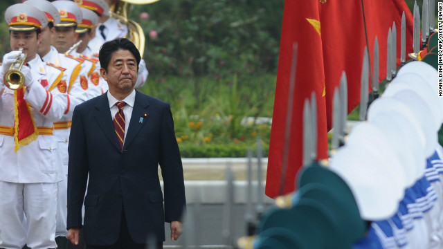 Japan's new leader is calling on friends