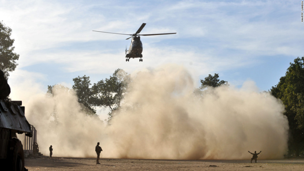 The French Army conducts operations in Mali on January 20.