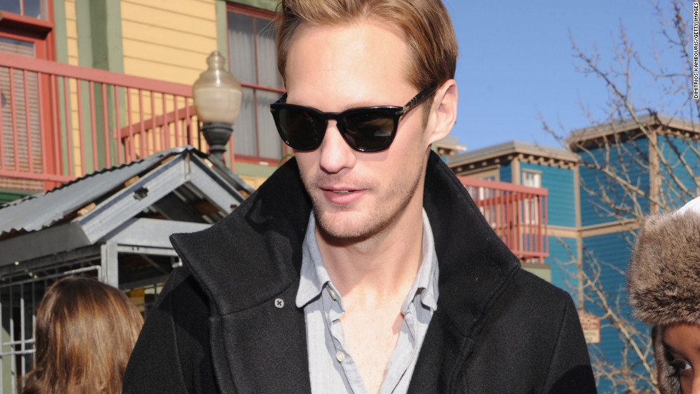 Alexander Skarsgard is on hand for the fans.