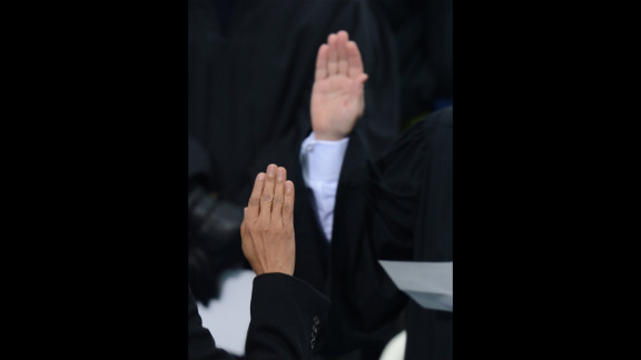 Obama takes the oath of office on January 21.