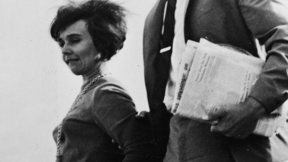 Sherri Finkbine and her husband Robert arrive in Sweden, August 7, 1962.
