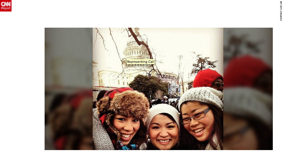 "Lisa Lee (@rrrlisarrr), left, a diversity program manager at Facebook, said <br />Obama's inauguration was especially meaningful to her. ""Like many of our fellow Asian-Americans, we are here to celebrate a president who we've felt is inclusive of our voices and experiences,"" she said. ""[The inauguration] means a renewed sense of promise and commitment to change our society for the better, not just from the president and his administration, but for everyone."""