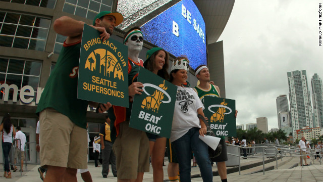 Seattle Supersonics fans have been campaigning for its team to return to the city.