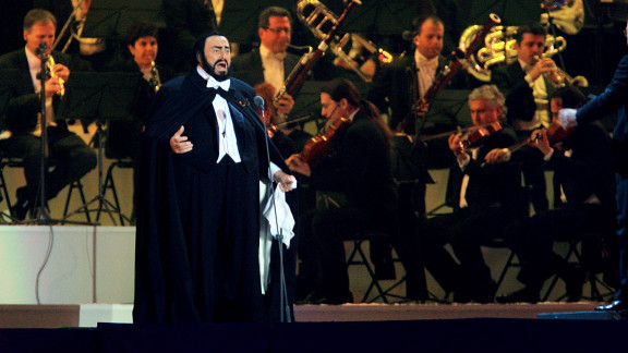 """Luciano Pavarotti lip-synced his performance at the opening ceremony of the 2006 Winter Games in Turin, Italy, conductor <a href=""""http://www.cbc.ca/news/arts/music/story/2008/04/07/pavarotti-olympics-lipsync.html"""" target=""""_blank"""" target=""""_blank"""">Leone Magiera wrote in his book</a> in 2008. Low temperatures reportedly made it dangerous for him to perform live. Pavarotti died of cancer in September 2007."""