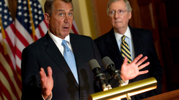 John Boehner, left, and Mitch McConnell in 2012. We can
