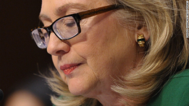 Clinton tears up at Benghazi hearing