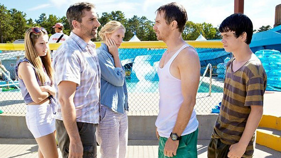 """Zoe Levin, Steve Carell, Toni Collette, Sam Rockwell and Liam James star in """"The Way, Way Back."""""""