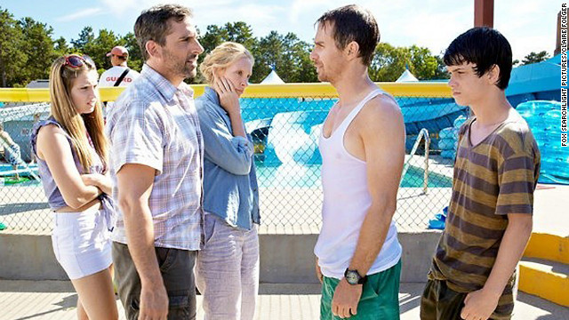 "Zoe Levin, Steve Carell, Toni Collette, Sam Rockwell and Liam James star in ""The Way, Way Back."""