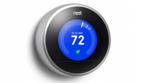"""<a href=""""https://nest.com/"""" target=""""_blank"""" target=""""_blank"""">Nest</a> is billed as a smart thermostat that learns from you. Over time, the easy-to-install device finds out about your domestic patterns and adjusts to maximize both comfort and energy efficiency."""