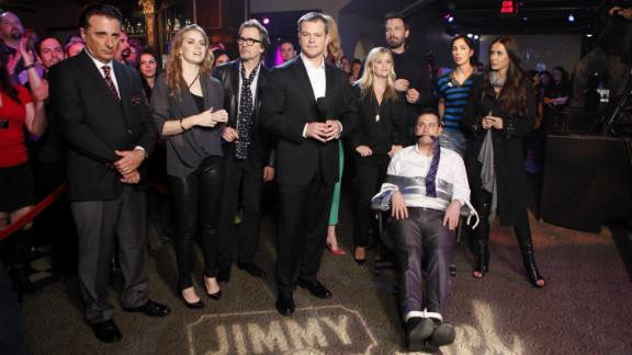 "The stars turned out Thursday night when Matt Damon ""hijacked"" Jimmy Kimmel's late-night show."