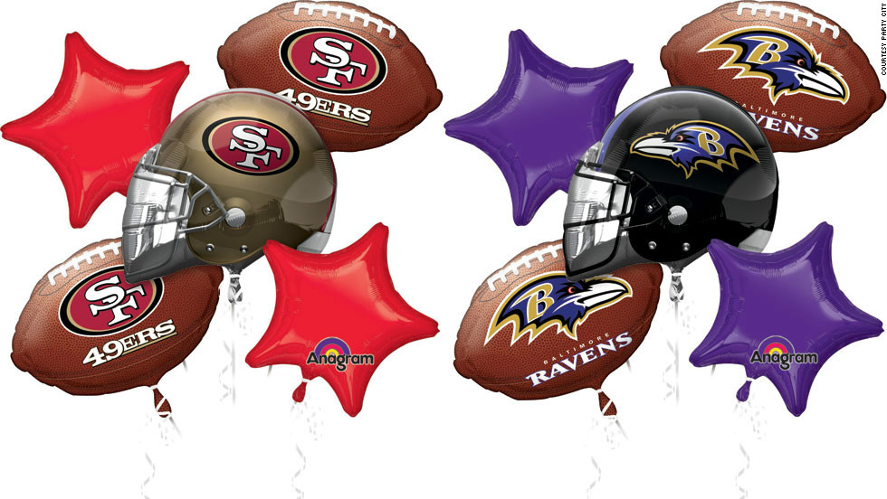 NFL-licensed products like balloons, paper plates, napkins and tablecloths always sell well at Party City during Super Bowl season.