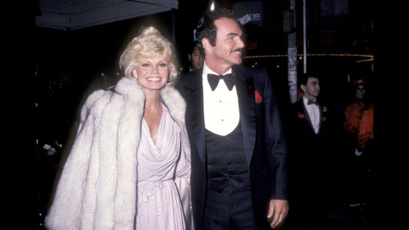 """Reynolds and Loni Anderson attend the premiere of """"City Heat"""" in 1984. Anderson became Reynolds' second wife in 1988. The two divorced in 1993."""