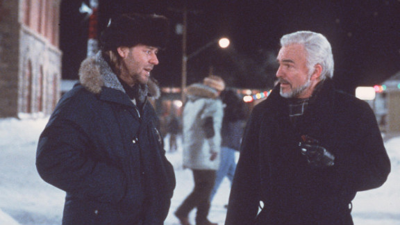 """Russell Crowe and Reynolds star in """"Mystery, Alaska"""" in 1999."""