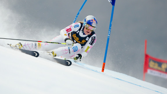 Vonn won her second race since returning to the circuit after a month out following stomach problems, moving closer to Annemarie Moser-Proll's record of 62.