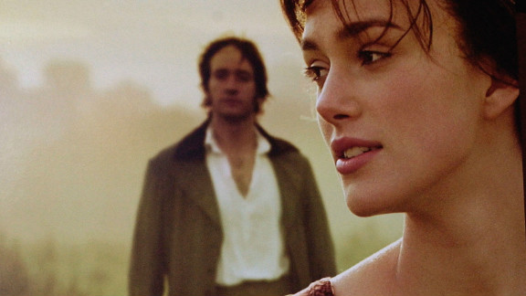 Detail from Pride and Prejudice film poster on display at the Variety Screening Series of