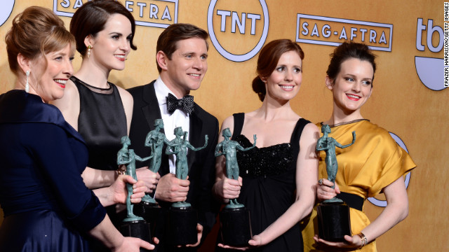 'Downton Abbey' cast backstage at SAG