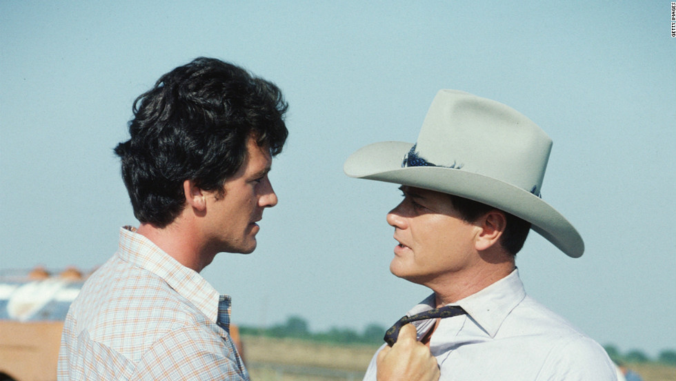 "Probably the biggest (fictional) brother vs. brother rivalry took place on the popular 1980s TV show ""Dallas.""  Bad boy J.R. Ewing -- played by actor Larry Hagman, right -- squared off against his good-guy brother Bobby, played by Patrick Duffy."