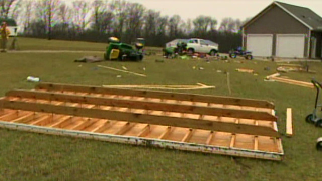 Storms send debris flying in Indiana