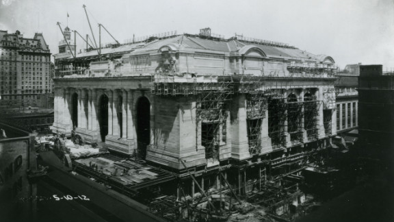 Grand Central Terminal under construction in 1912. The iconic rail hub turns 100 years old this month.
