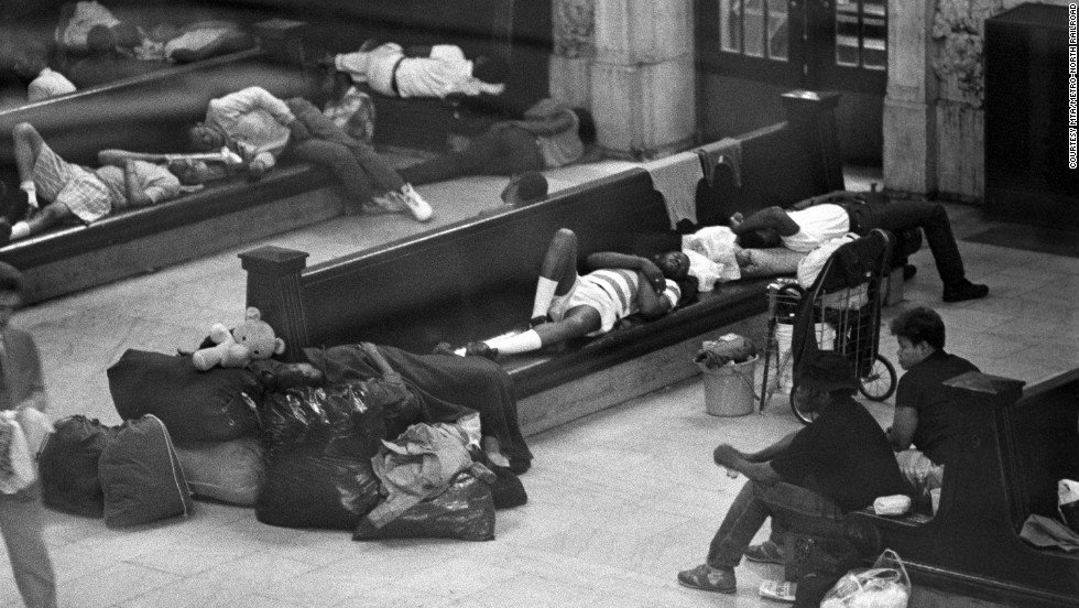 During the 1960s, the terminal was a crumbling, rusting ruin, often used as a shelter by New York City's homeless.