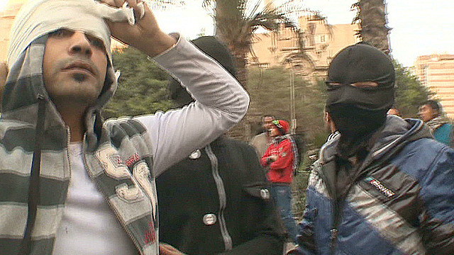 Young people rebelling in Egypt