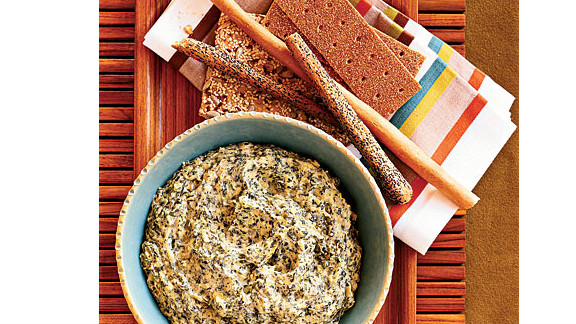 """Use lima beans, cream cheese, Tabasco sauce, capers and mustard for a sneaky, low-cal way to get your family to eat iron-rich spinach. One serving is only 59 calories. <strong>Try this recipe:</strong> <a href=""""http://www.health.com/health/recipe/0,,10000001121119,00.html"""" target=""""_blank"""" target=""""_blank"""">Spinach-artichoke dip</a>"""