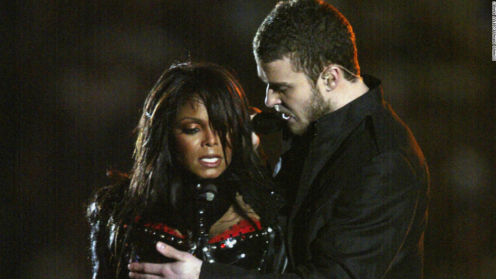 "In 2004, Janet Jackson, Diddy, Nelly, Kid Rock and Justin Timberlake put on quite a <a href=""https://www.youtube.com/watch?v=wi_RIPHgXjU"" target=""_blank"">performance</a> for viewers -- although it doesn't much matter what they sang, since the show will be forever remembered for Jackson's ""wardrobe malfunction."""