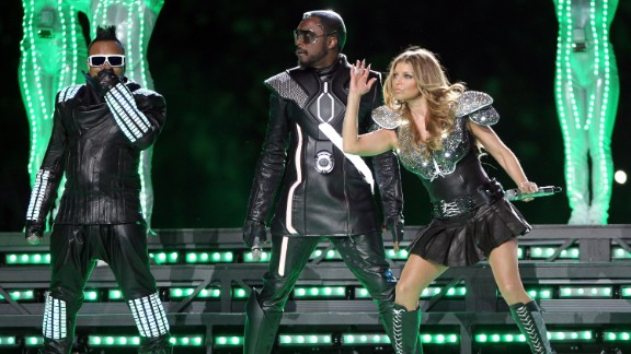 """The 2011<a href=""""http://www.youtube.com/watch?v=xPIiaSnYV5E"""" target=""""_blank"""" target=""""_blank""""> halftime show </a>showed promise. The crowd was pumped as the Black Eyed Peas entered from the ceiling, but once they hit the stage, things fell apart. Not even hundreds of dancers clad in glowing green lights could save this performance."""