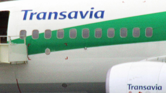 The first officer was found sleeping at the controls of a Transavia 737, says Dutch airline.