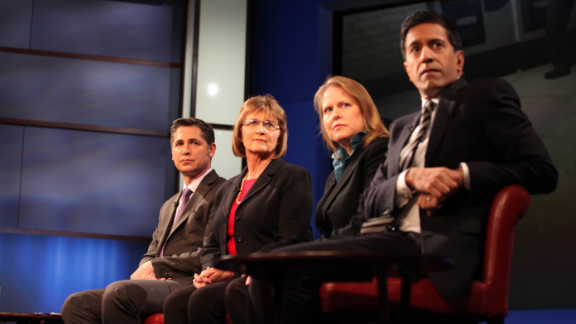 Panel members, from left, Gross, Froman, Olson and Gupta.
