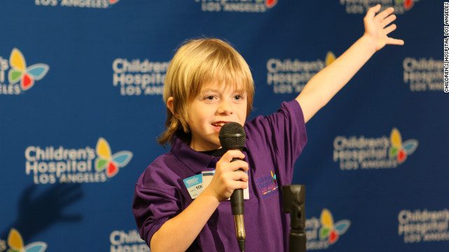 Max Page helps raise awareness for kids in need via the Junior Ambassadors Program for Children's Hospital Los Angeles.