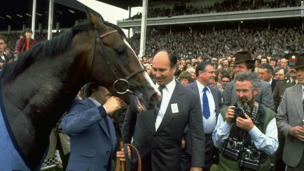 The champion thoroughbred was owned by the Aga Khan (pictured center), the billionaire spiritual leader to 15 million Ismaili Muslims.