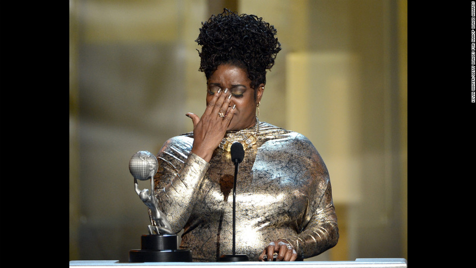 "Loretta Devine -- who received awards for both Supporting Actress in a Drama Series (""Grey's Anatomy"") and Performance in a Youth/Children's Program (""Doc McStuffins"") -- got emotional onstage. Omar Epps (not pictured) won Supporting Actor in a Drama Series for ""House M.D."""