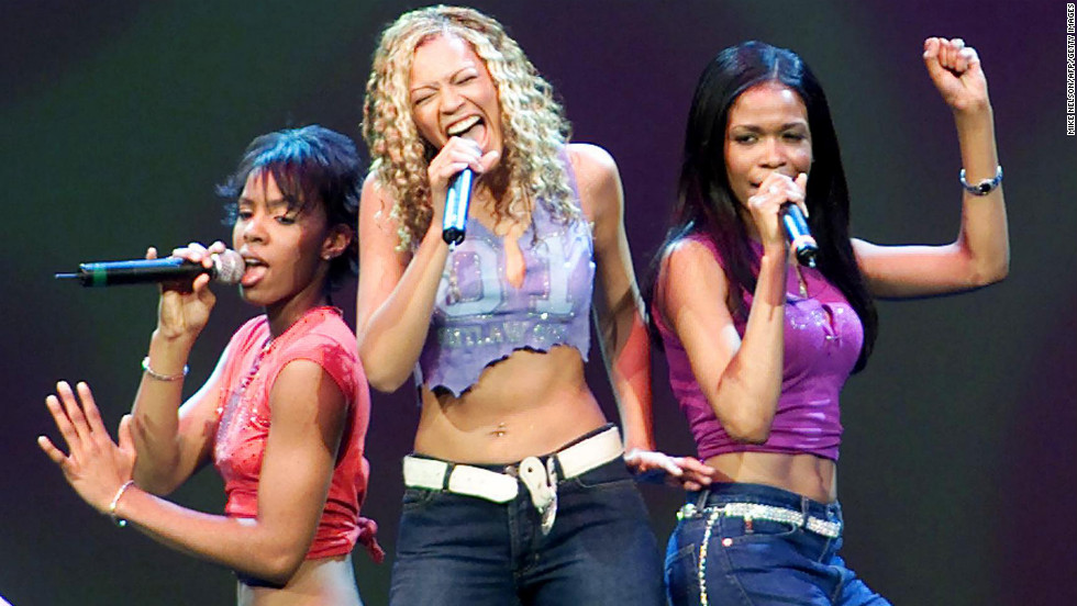 Beyonce performs with Kelly Rowland, left, and Michelle Williams -- the final version of the group that put her on the map -- for President-elect George W. Bush during a pre-inaugural event in Washington on January 19, 2001.