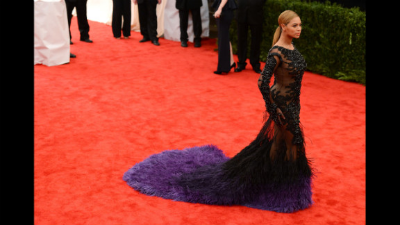 Just months after giving birth, Beyonce was red-carpet ready at the Costume Institute Gala at the Metropolitan Museum of Art in New York on May 7, 2012.