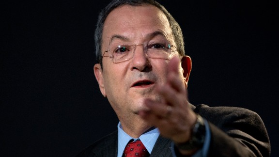 Israeli Minister of Defense Ehud Barak speaks during a session of the 2013 World Economic Forum Annual Meeting on January 24, 2013 at the Swiss resort of Davos.