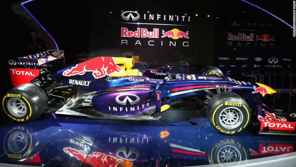 The new Infiniti Red Bull Racing RB9 was launched at the Austrian-owned Formula One team's English headquarters  in Milton Keynes on February 3.