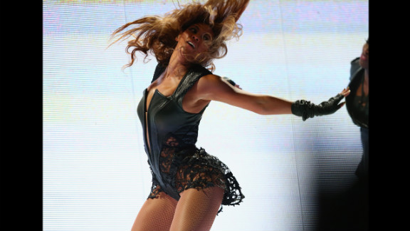 Beyonce wraps up her electrifying Super Bowl halftime performance.