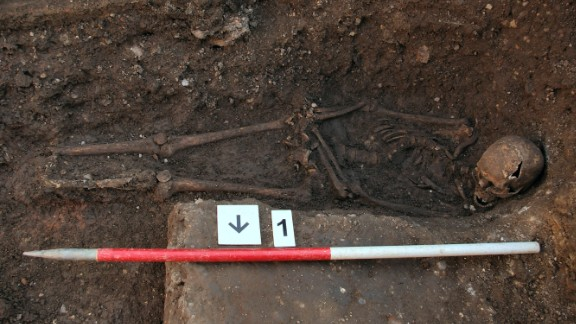 The body was found in a roughly hewn grave that experts say was too small for the body, forcing it to be squeezed into an unusual position. The positioning also shows that his hands may have been tied.