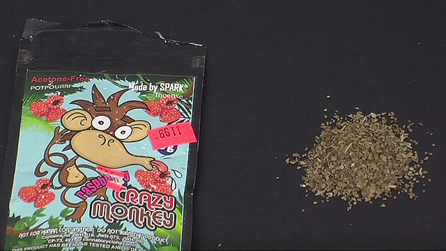 Synthetic marijuana is sold under names like Spice or K2.