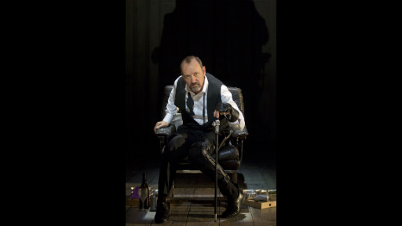 """In the wake of Richard III's remains being discovered, take a look at some of the thespians who have brought the historical character to life. In this photograph: Kevin Spacey in """"Richard III"""" for the Brooklyn Academy of Music, 2012."""