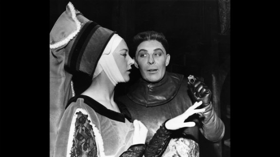 "Shakespeare's plays live on in hundreds of live productions staged each year around the world. Here, Paul Daneman and Eileen Atkins appear in ""Richard III"" at London's Old Vic Theatre in 1962."