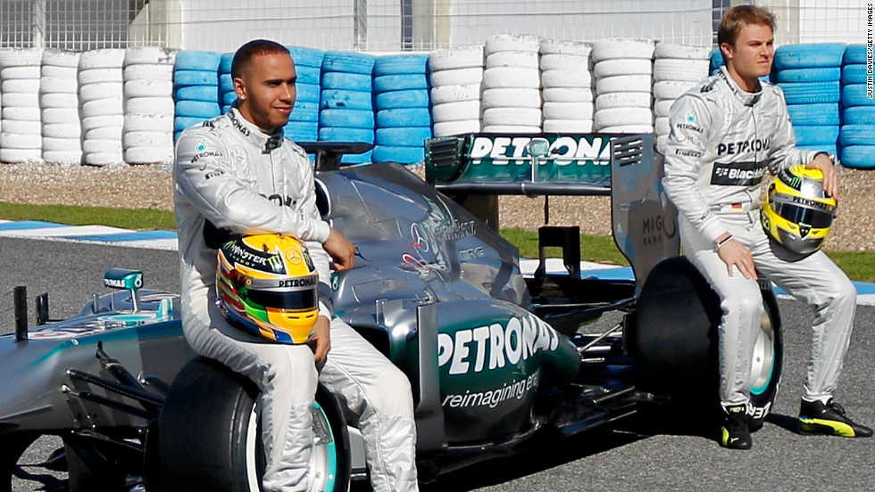Hamilton shocked the world of F1 by joining unfancied Mercedes for the 2013 season in place of the retiring Michael Schumacher. The move reunited him with his old karting teammate Nico Rosberg.