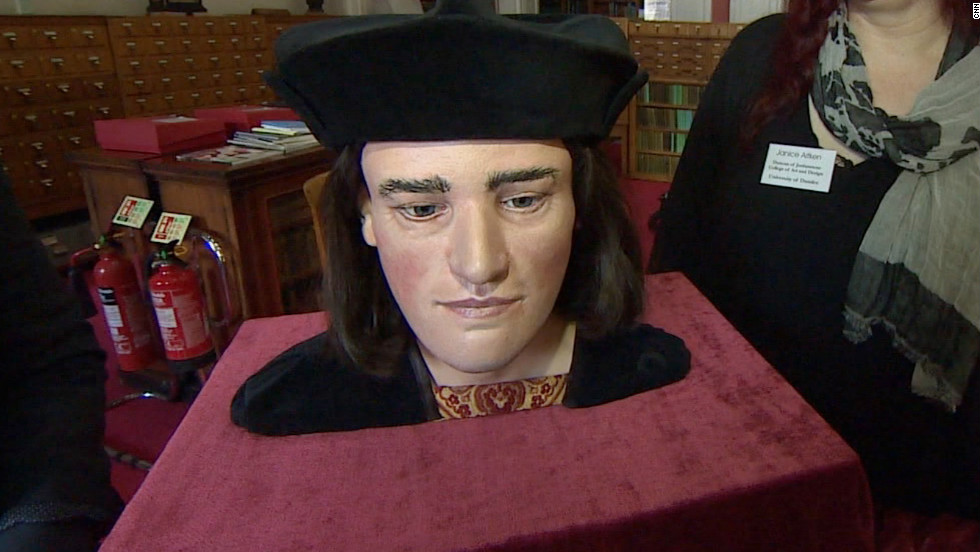 A reconstruction of King Richard III's head at the University of Dundee.