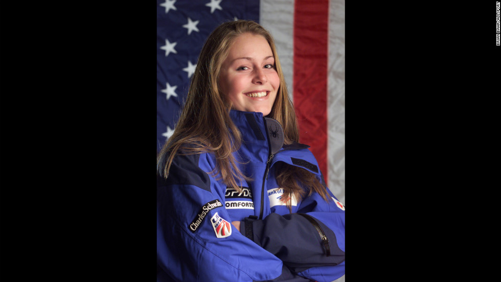 Lindsey Kildow, who became Vonn by marriage, of the USA Ski team poses for a portrait in 2001.