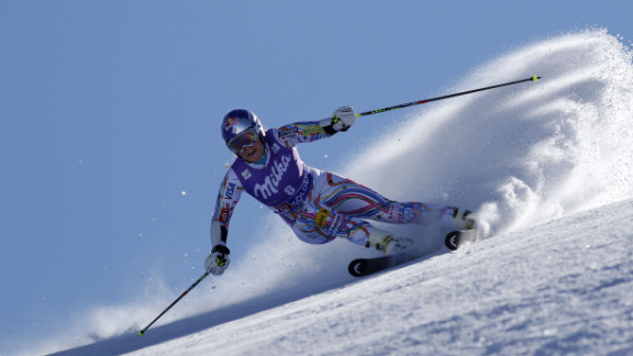 Vonn takes first place during the Audi FIS Alpine Ski World Cup for women