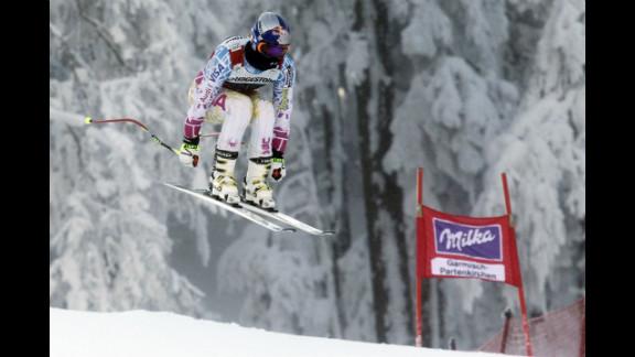 Vonn in action during the Audi FIS Alpine Ski World Cup women